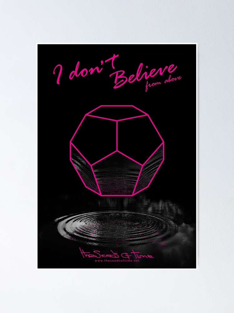 Alternate view of I don't believe (from above) Poster