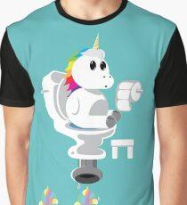 Rainbow Unicorn Ice Cream Graphic T-Shirt