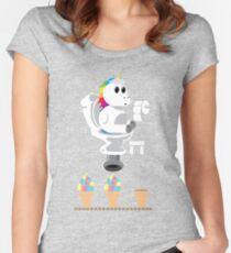 Rainbow Unicorn Ice Cream Women's Fitted Scoop T-Shirt