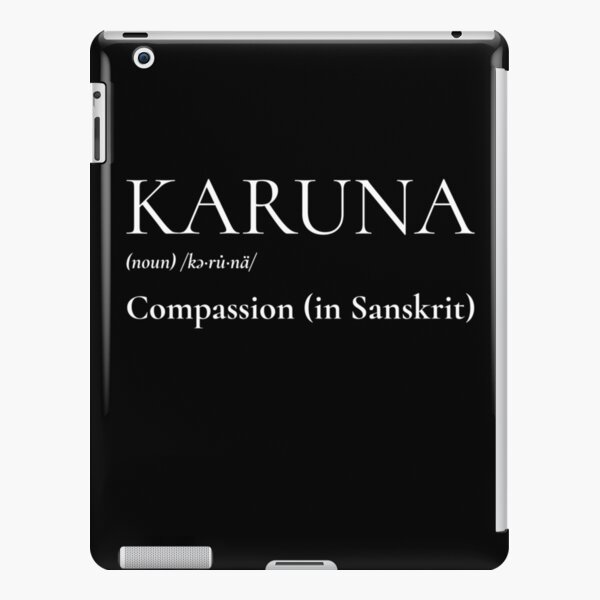 From Corona to Karuna, Compassion Definition iPad Snap Case