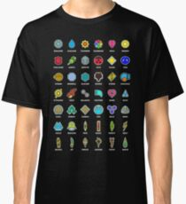 Pokemon Badges Classic T-Shirt