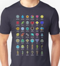 Pokemon Badges T-Shirt
