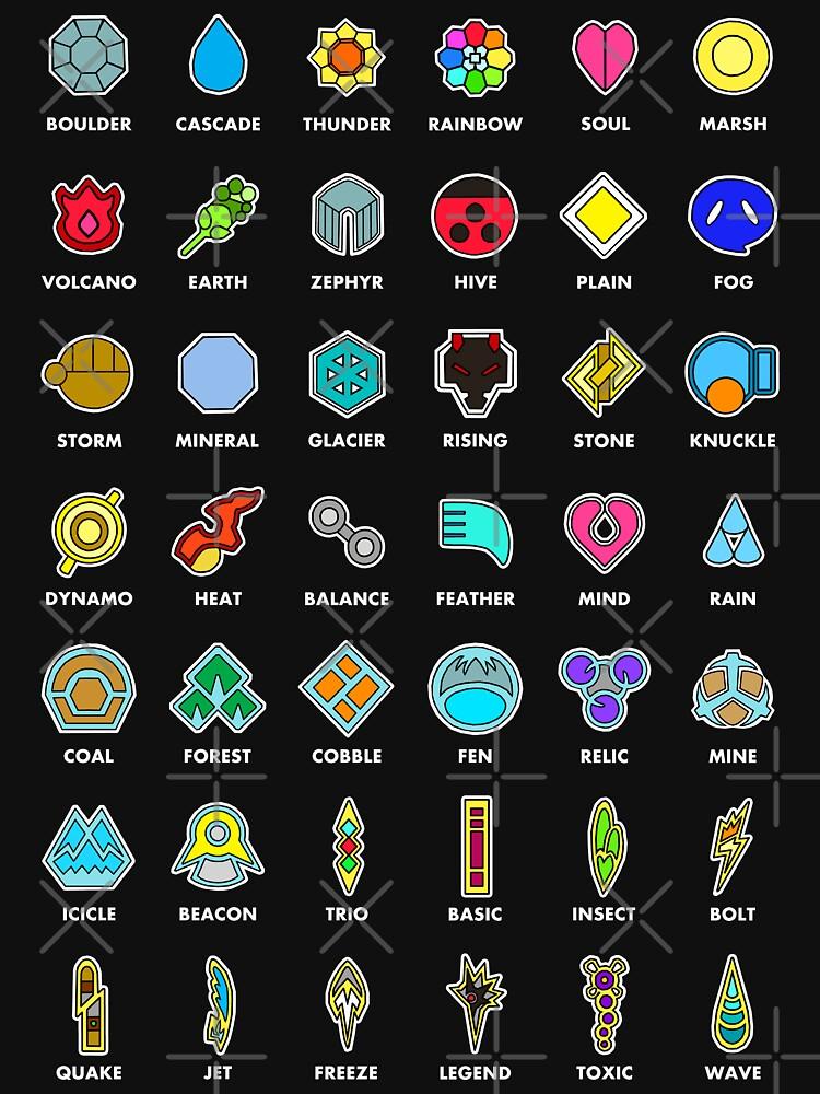 Pokemon Badges | Unisex T-Shirt