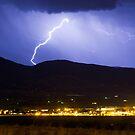 Lightning Striking Over IBM Boulder by Bo Insogna