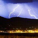 Lightning Striking Over IBM Boulder 3 by Bo Insogna