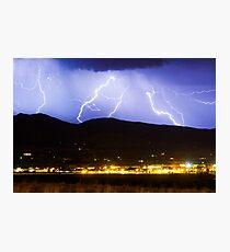 Lightning Striking Over IBM Boulder 3 Photographic Print