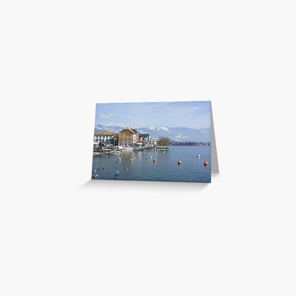 Vevey landscape Greeting Card