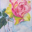 Rose in the glass by Victoria  _Ts