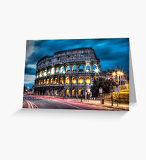 HDR Coliseum Greeting Card