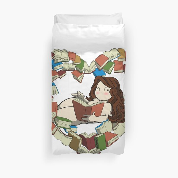 Book Lover Duvet Cover