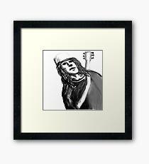 Buckethead ghost host   Framed Print
