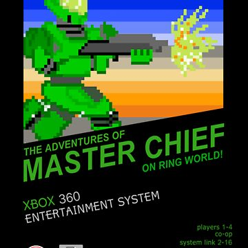 Master Chief NES box by tracerbullet