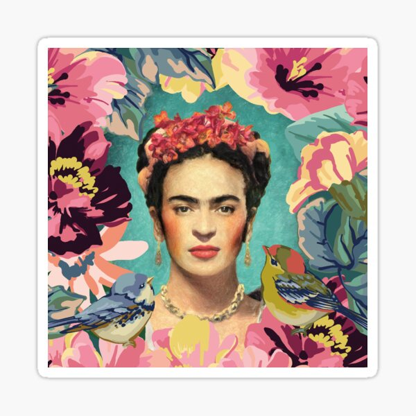 Frida Kahlo V Pegatina