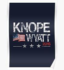 Knope Wyatt Distressed  Poster