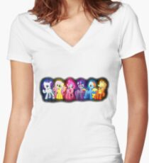 Mane Six Women's Fitted V-Neck T-Shirt