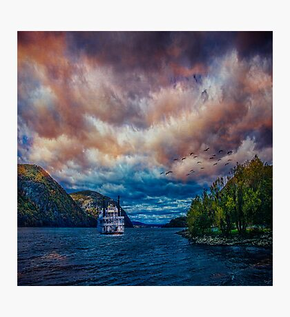 Steamboat On the Hudson River Photographic Print
