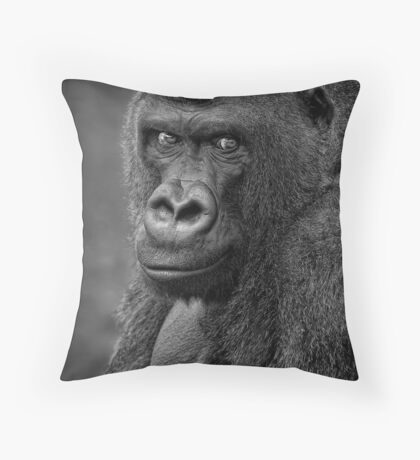Lowland Gorilla Throw Pillow