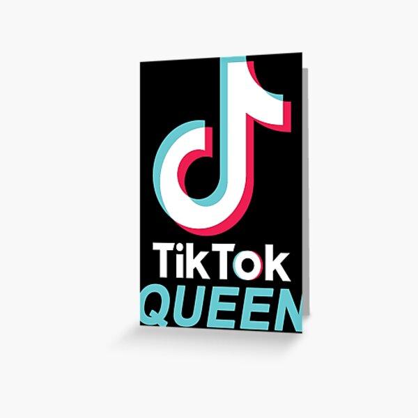 TikTok QUEEN (blue 1) Greeting Card