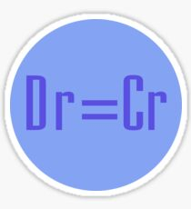 Debit Equals Credit Accounting Joke T-Shirt & Sticker Sticker