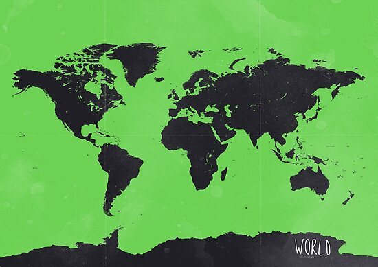 World map Green by Pranatheory