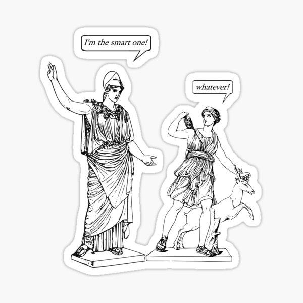 GODDESS STATUS Sticker