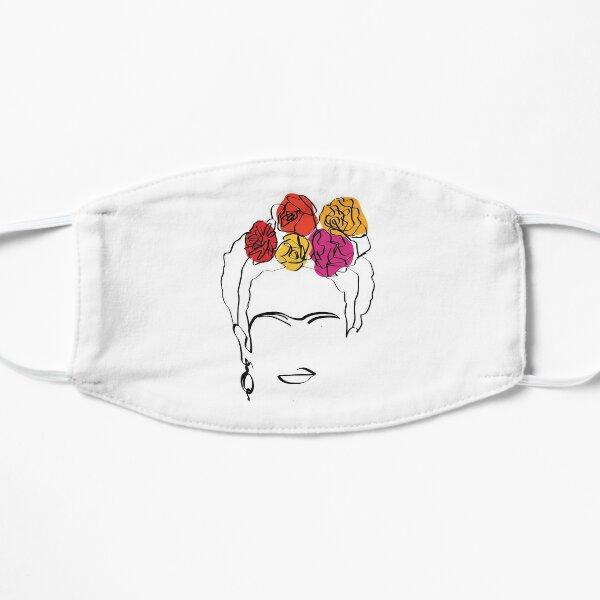 Frida Kahlo - Retrato de la cara - Arte lineal Mascarilla plana