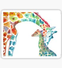 Giraffe Mommy and Baby Sticker