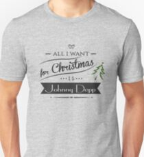 all i want for christmas is Johnny Depp T-Shirt