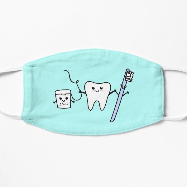 diente feliz y amigos Mascarilla plana
