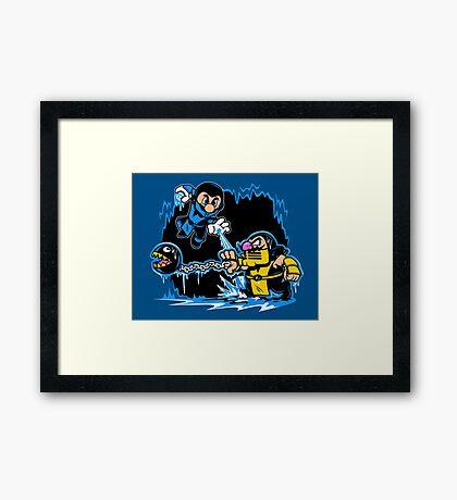 Mario Kombat Framed Print