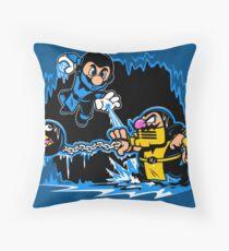 Mario Kombat Throw Pillow