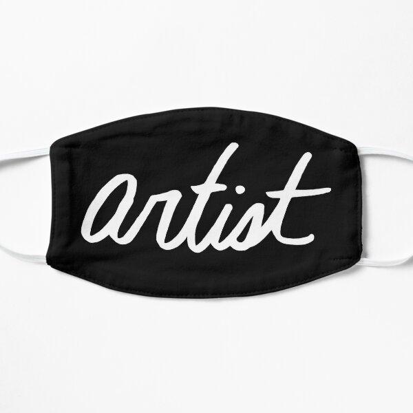 Artist White on Black Mask