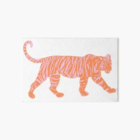 Orange and Pink Tiger Art Board Print
