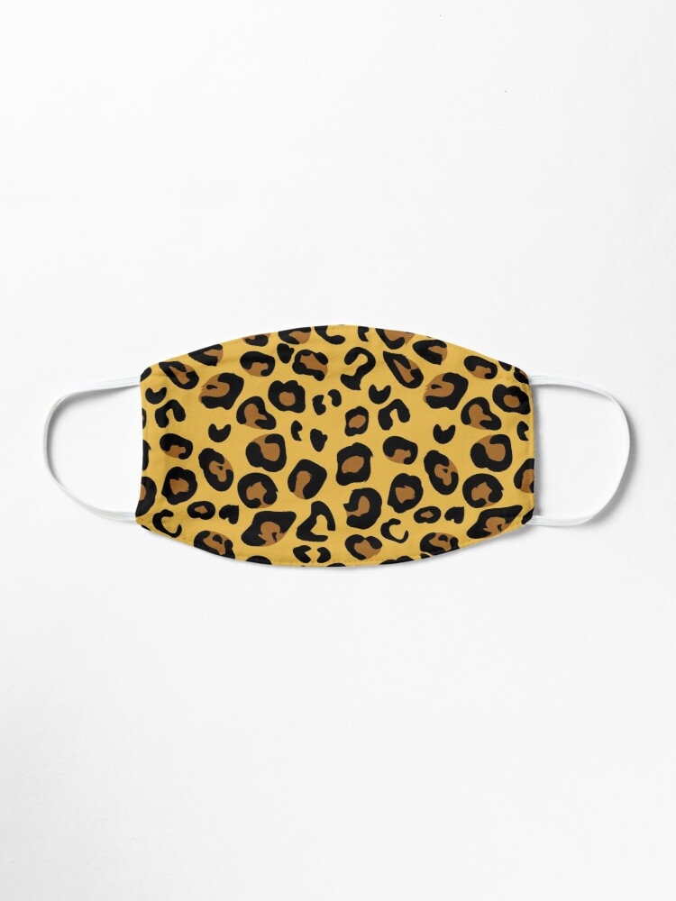 Alternate view of Leopard pattern face covering White leopard Mask