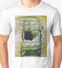 Natasha in the Chartreuse Chair Unisex T-Shirt