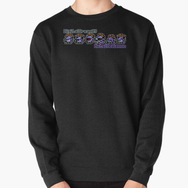 MetalVegiemon Small Sprite Colour (DigitalDream09) Logo Pullover Sweatshirt