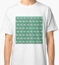 """Cherry on Pup"" Maltese Cake Pattern Green Classic T-Shirt"