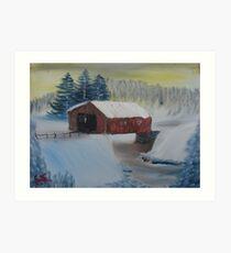 """Winter Bridge""  by Carter L. Shepard Art Print"