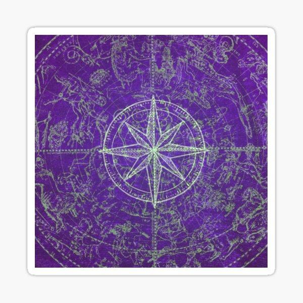 Map of the Heavens in Purple Sticker