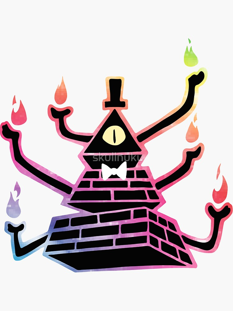 Six-Armed Apocalypse Bill Cipher - Color by skullnuku