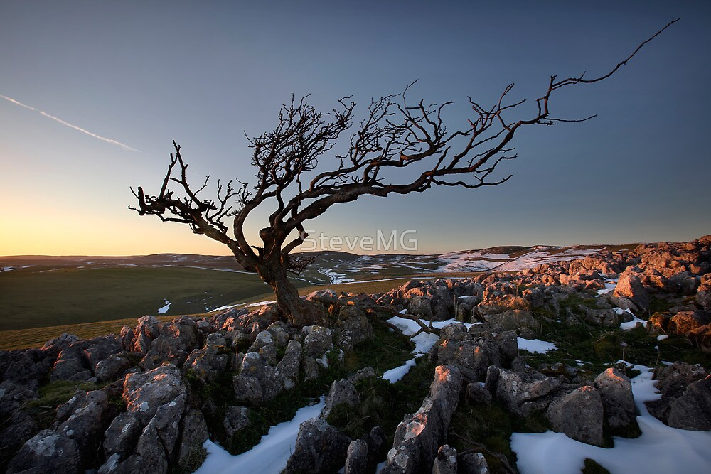 Last Throws Of Winter On Malham Moor by SteveMG
