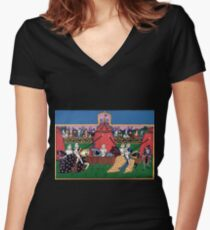 Tournament Women's Fitted V-Neck T-Shirt