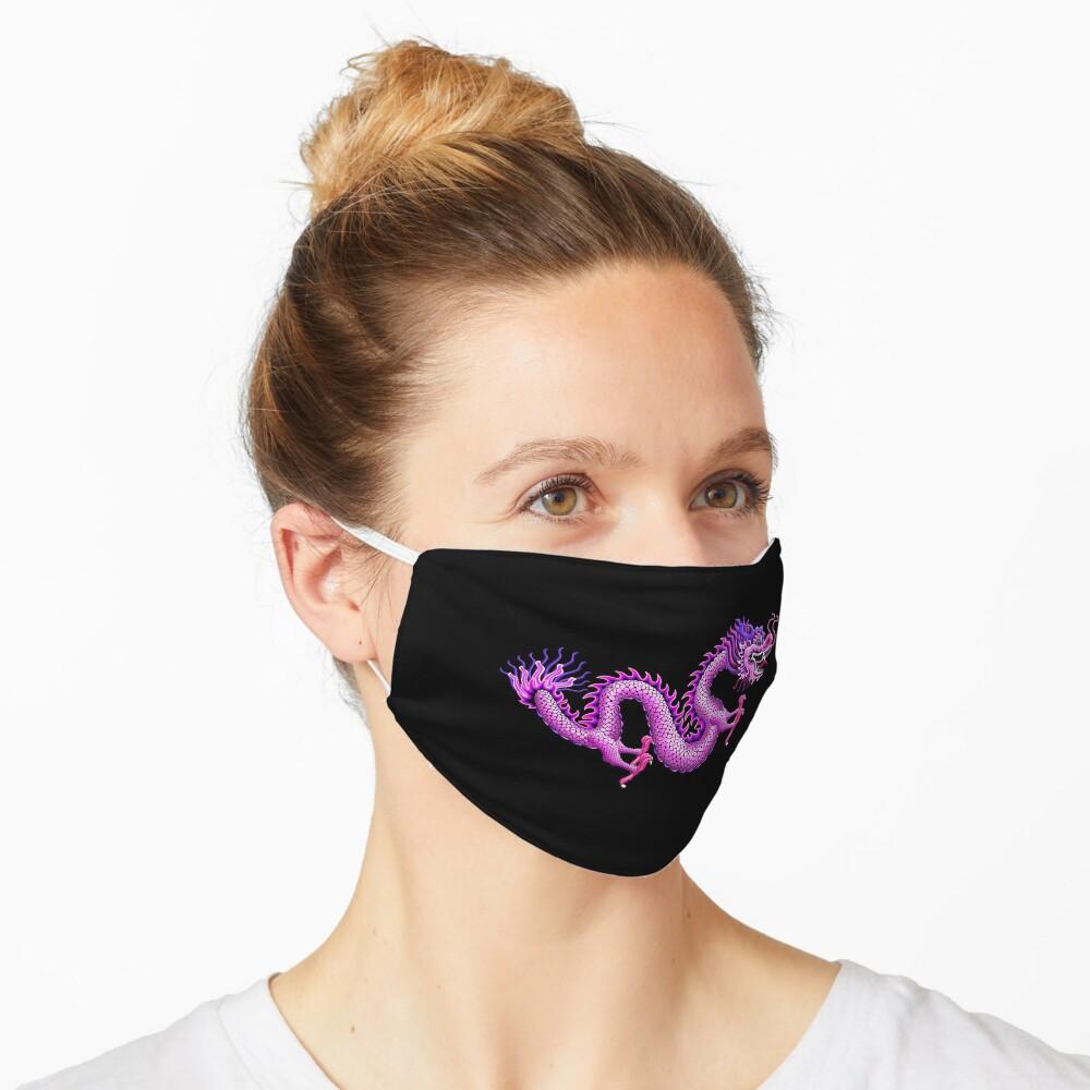 Pink Chinese Dragon Mask