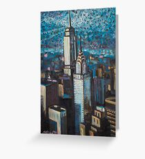 New York skies Greeting Card