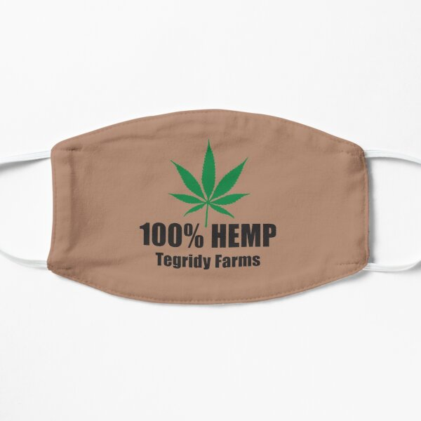 100% Hemp Tegridy Farms - South Park, Stan's T-shirt with  Flat Mask