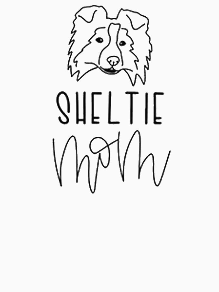 Sheltie Mom Shirt by dogdesigns