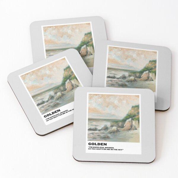 golden polaroid Coasters (Set of 4)