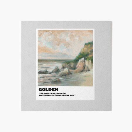 golden polaroid Art Board Print