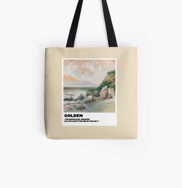 golden polaroid All Over Print Tote Bag