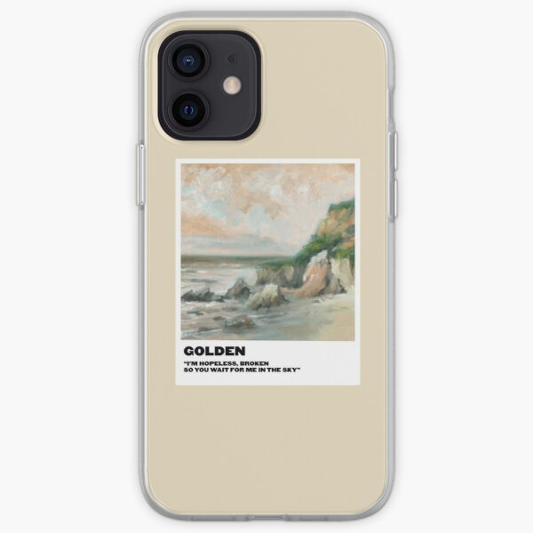 polaroid doré Coque souple iPhone